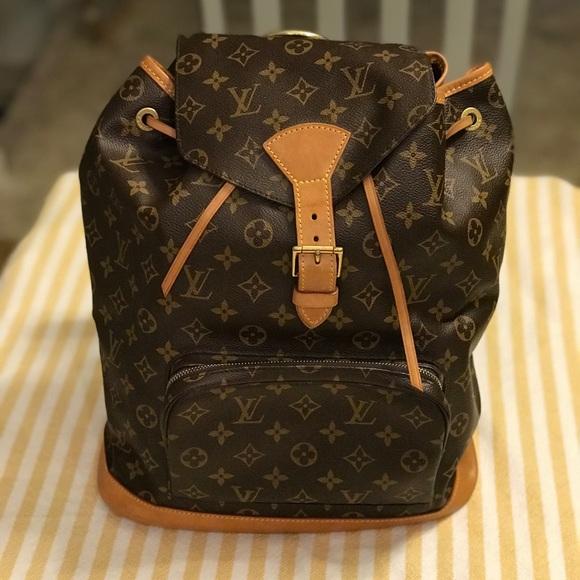 ee4c82411d97 Louis Vuitton Handbags - Louis Vuitton monogram Montsouris GM Backpack